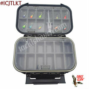 Eagle Claw Ice Jig Tackle Box Kit with Jigs Tony Roach Edition #ICJTLKT