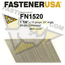 "FN1520 15 gauge Angled Finish Nails 1 1/4"" (FN1500 series) 25 degrees 3655ct"