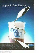 PUBLICITE ADVERTISING 116  1986   Danone  yoghourt Dan Frut