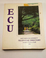 1986 ECU East Carolina University Telephone Directory Student Faculty Staff