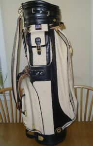 New Bennington Women's Golf Bag w/ Light Pink / Beige Floral Print & Black Trim
