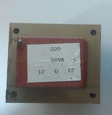 Trasformatore di isolamento lamellare 50VA prim.:220V, sec.:12-0-12V (24V)