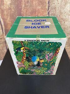 Vintage Block Ice Shaver Orange Color By Flavor Time International