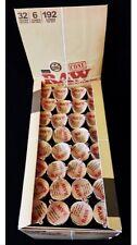 AUTHENTIC Raw Rolling Paper Pre-Rolled Classic Cones 1 1/4 - 32 Pks - 192 Cones