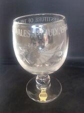 Signed Webb Corbett Glass Goblet Commemorating Prince Wales Investiture 1969