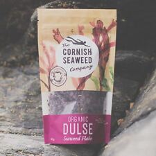 The Cornish Seaweed Company | Flaked Organic Dulse Flakes. 40g Pack of 4