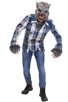 Adult Timber Wolf Halloween Bloody Werewolf Costume And Mask Set Large