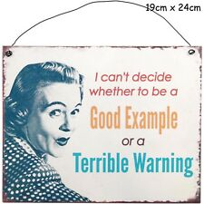 Cant Decide Metal Hanging Sign Wall Plaque Shabby Chic Gift Homeware