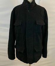 Ben Sherman BLACK Four Pockets Wool Blend Jacket Coat Black L