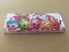 12 Shopkins Birthday Chocolate Bar Wrappers, Favours, Party Bag Fillers
