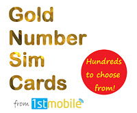 07928 734 035. NEW Gold VIP number sim card pack. Easy transfer to any network