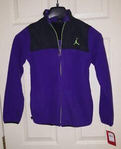 Nike Jordan Jumpman Fleece Purple & Black Zip Front Jacket Youth  Lg 12-13 NWT