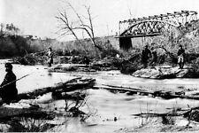 New 5x7 Civil War Photo: Railroad Bridge Across Bull Run Creek at Manassas