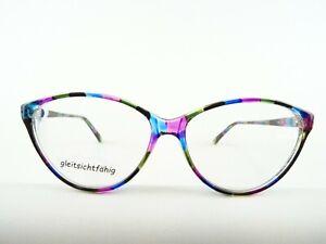 Freche bunte Damenbrille Brillenfassung Kunststoff  XL Schmetterlingsform Gr. M