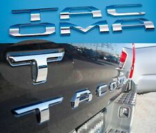 3D Tailgate Insert Letters fits 2016-2021 Toyota Tacoma (Chrome) (Fits: Toyota)