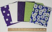 Fat Quarter Bundle 5 PIECE Quilt Cotton Fabric Mask Doll Apparel Sew Stash Build