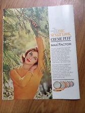 1961 Max Factor California Creme Puff Compact Maku-Up Ad