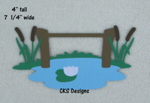 HANDMADE Die Cut Fishing Dock Pond Scrapbook Embellishment Paper Piecing CKS