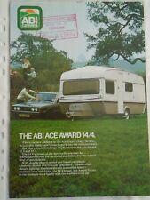 ABI Ace Award Caravan brochure 1977