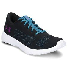 f3b9b4f1014a5 UNDER ARMOUR Ladies RAPID Running Shoes BLK BLUE PURPLE WHITE Sz. 7