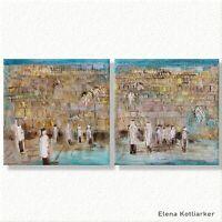 The Kotel: contemporary judaica art print by Elena Kotliarker