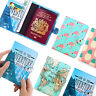 Travel PU Leather Passport Organizer Holder Card Case Protector Cover Wallet