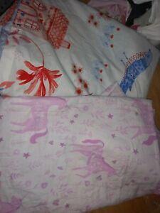 Girls single duvet set x 2 .unicorns /cottage garden.