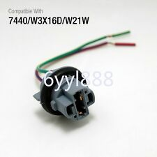 2Pcs 7440 Bulb Socket Brake Turn Signal Light Harness Wire LED Pig Tail Plug T20