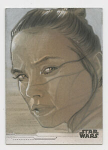 Star Wars Rise of Skywalker sketch card Rey by Matthew Hirons
