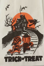 10 Vintage Trick or Treat Bags 1960s Topstone Pirate Pumpkin Witch Bats House