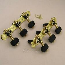Alice Delux Classical Guitar Tuning Pegs Tuner Gold Plated Ebony Keys AOS-030WD