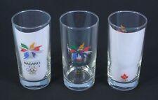 * 1 Genuine 1998 NAGANO Japan Winter OLYMPICS Glass with Team Canada Logo NEW *