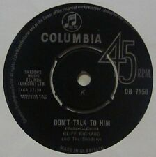 "Cliff Richard & The Shadows(7"" Vinyl)Don't Talk To Him-Columbia-DB 7150-UK-Ex/VG"