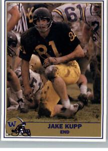 1992 Pacific Washington Huskies Football Greats Jake Kupp #76