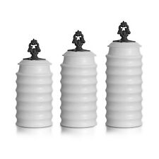 American Atelier Rani 3 Piece Canister Set White