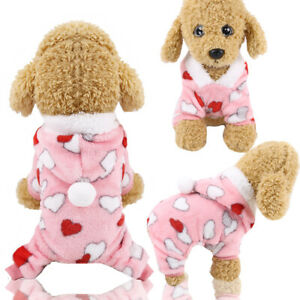 Dog Pyjamas Size XS S M L XL - Puppy Pet Pjs Sleepwear Jumpsuit for Poodle