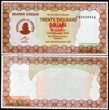 ZIMBABWE 20,000 20000 DOLLARS 2003/2004 P 23 d CA PREFIX UNC