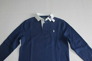 Polo Ralph Lauren Men's Blue Long sleeve Fleece Rugby in Size Small