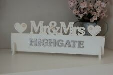 Mr & Mrs Wedding Sign MR AND MRS Top Table Decoration personalised any colour