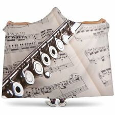 Music + Flute Cosy Hooded Blanket - Sherpa And Microfiber Blanket With Hood