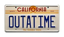 Back to the Future | Delorean | OUTATIME | STAMPED Replica Prop License Plate