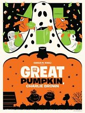 GREAT PUMPKIN CHARLIE BROWN MICHAEL DE PIPPO Limited edition print 280 HALLOWEEN