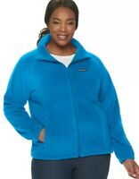 NWT Women Columbia Benton Springs Full Fleece Jacket In Blue Women Plus Size 3XL