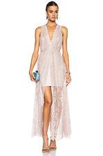 ALICE + OLIVIA /  JULISSA Blush Pink V- Neck Maxi Long Dress SIZE 6  New $698