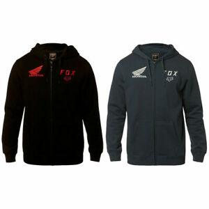 Fox Racing Honda Zip Fleece Hoodie - Zipper Sweatshirt Hoody Men MX Motocross