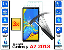 3x Genuine 100% TEMPERED GLASS Screen Protector Cover For Samsung Galaxy A7 2018