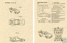 Transformers JAZZ US Patent Art Print READY TO FRAME! 1985 Ohno Autobot Car