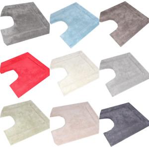 Toilet Contour Mat 55 x 55 cm 100% Cotton Anti-slip Ultra-plush FREE POSTAGE