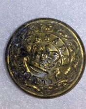 Vintage Canadian Militia Brass Button 1867-1940 Thomas Carlyle England! MILITARY