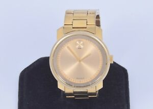 Movado Bold Gold Tone Stainless Steel Swiss Watch 42.5mm MB.01.1.34.6136